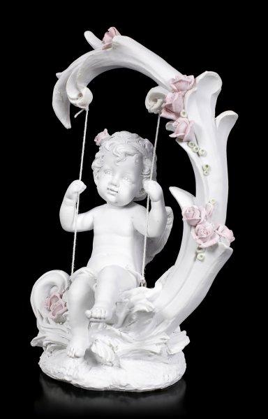 Engel Figur - Putte auf Schaukel