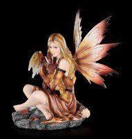Fairy Figurine - Himiyana with Dragon Boy in Fall