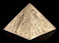 Ägyptische Tier-Urne - Pyramide
