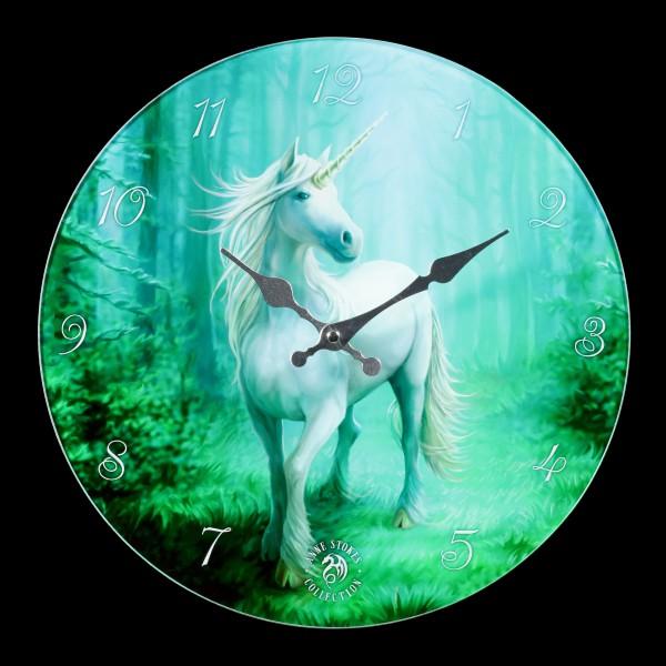 Glass Wall Clock - Forest Unicorn