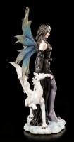Elfen Figur - Isadra mit weißem Drachen