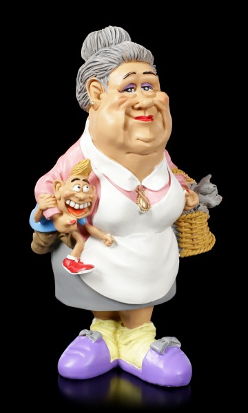 Funny Family Figur - Oma mit Lausebengel