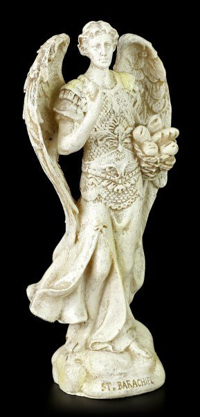 Small Archangel Figurine - Barachiel - White