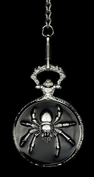 Gothic Taschenuhr - Spinne