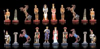Pewter Chessmen Set - Egyptians against Romans