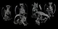 Small Dragons - Set of 6