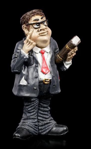 Funny Job Figur - Dicker Anwalt mit Gesetzbuch