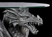 Drachen Tisch mit Glasplatte - Wasserdrache