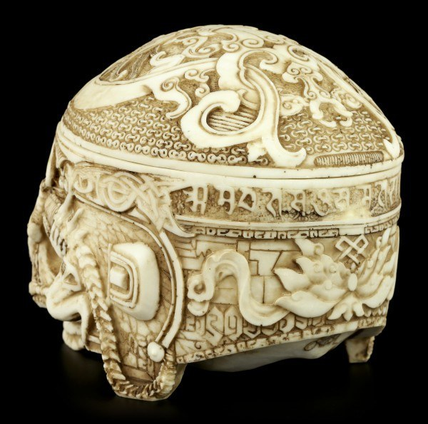 Totenkopf Schatulle - Tibetanischer Schädel