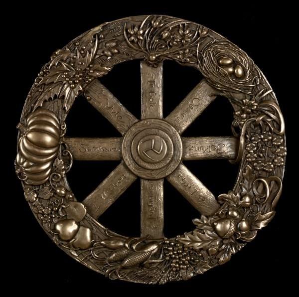 Wandrelief Wicca - Das Jahresrad