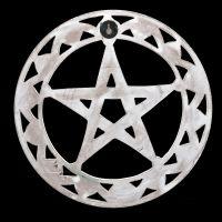 Wall Ornament - Pentagram Wood white