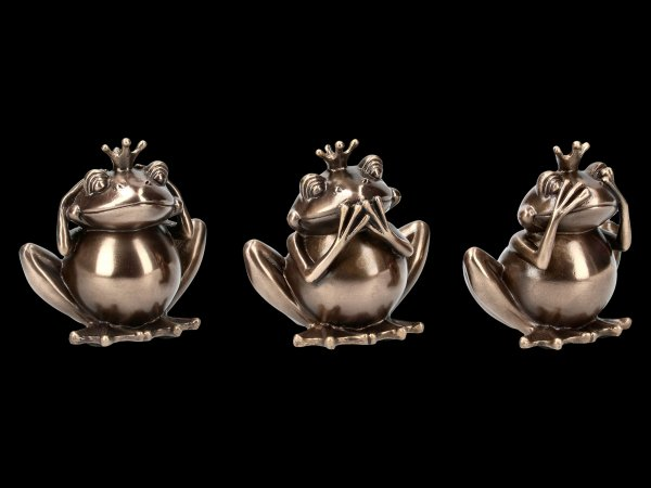 Three Wise Frog Figurines - No Evil