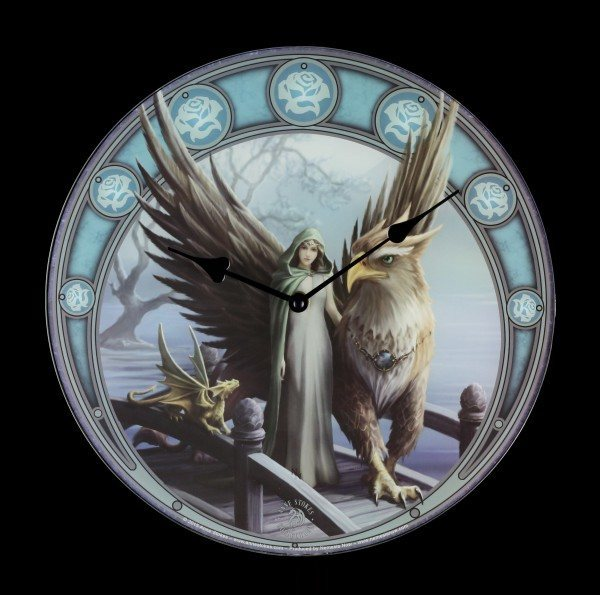Glass Clock Griffin - Realm of Tranquility