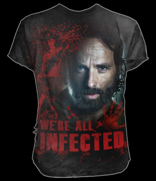 T-Shirt - The Walking Dead - Rick All Infected