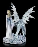 Fairy Figurine - Calista with Ice Dragon