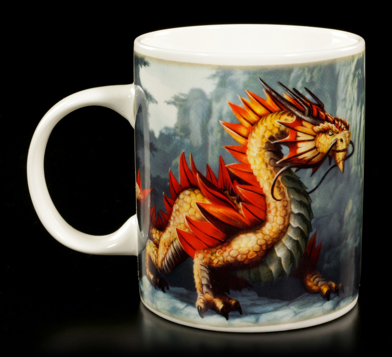 Age of Dragons Mug - Golden Mountain Dragon