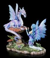 Fairy Figurine with Dragon - Companion Dragon