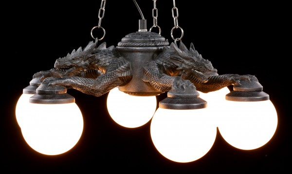 Ceiling Lamp - Three Dragons with Six Lights
