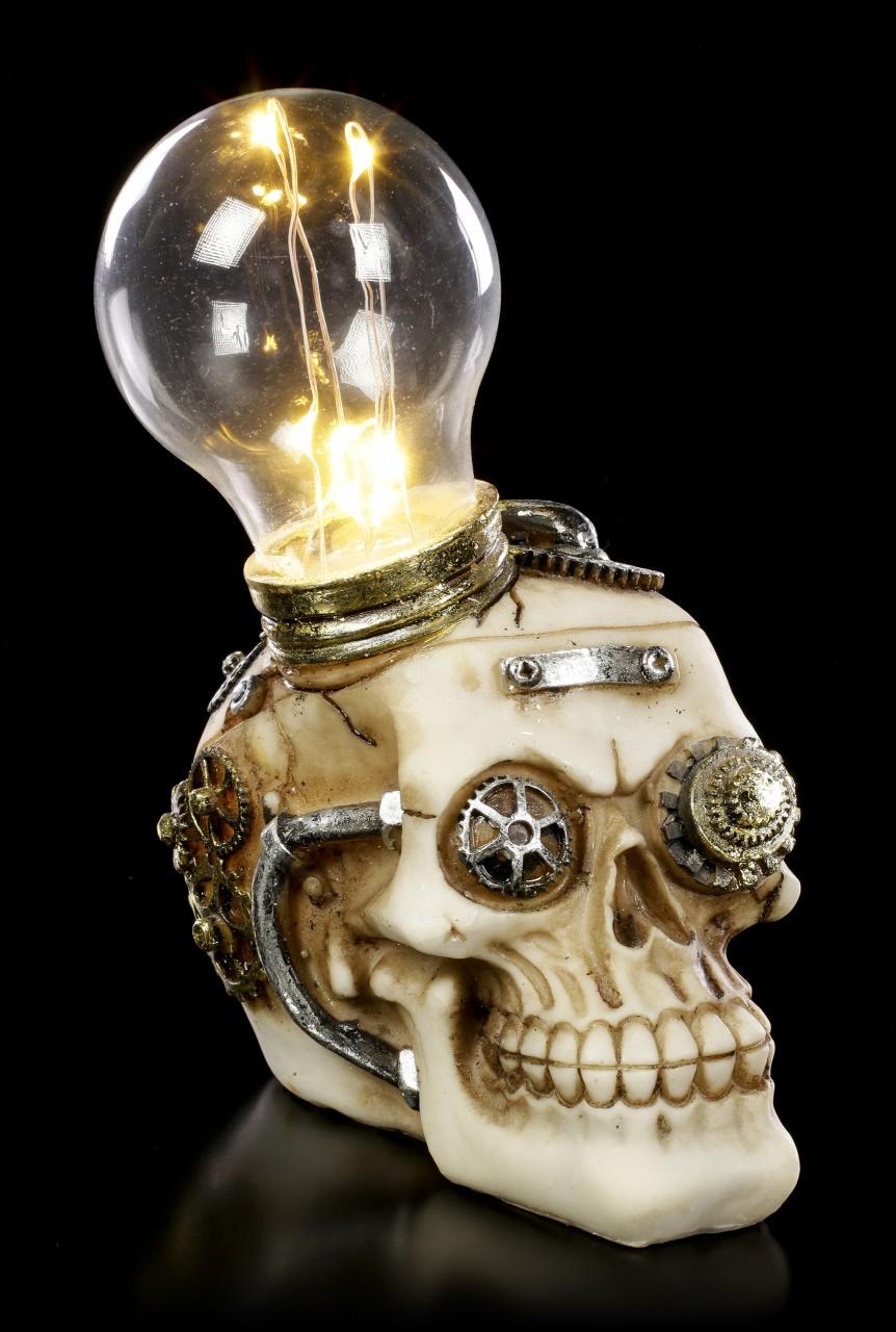 Steampunk Skull with LED - Bright Idea