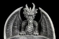 Ashtray - Black Gothic Dragon
