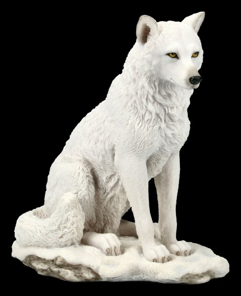 White Wolf Figurine - sitting