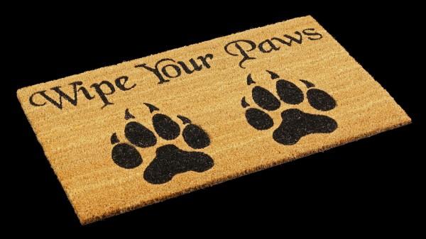 Fantasy Doormat Werewolf - Wipe Your Paws