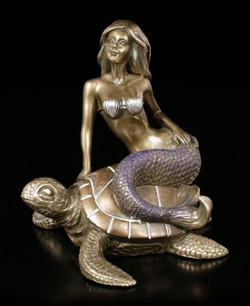 Mermaid Figurine on Turtle