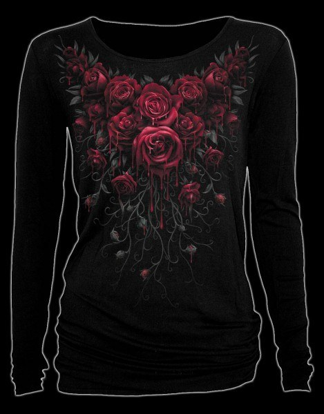 Langarmshirt - Blutige Rosen - Blood Rose