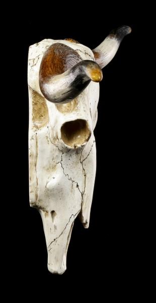 Großes Wandrelief - Büffel Schädel