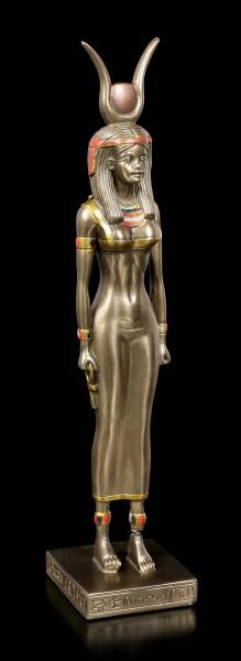 Ägyptische Figur - Totengöttin Isis - bronziert