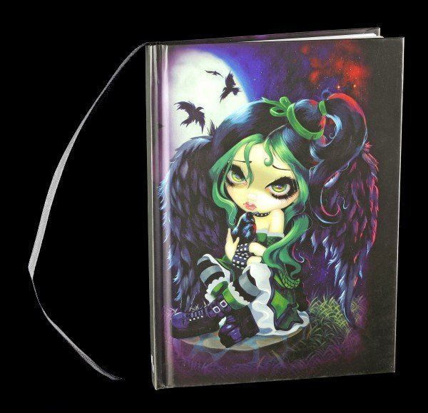 Hardcover Notizbuch mit Dark Angel - Perche & Sat & Nothing More