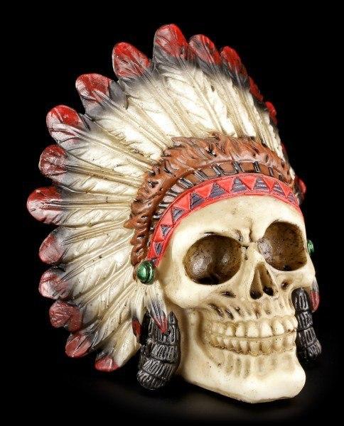 Skull Indian Chief - Medium