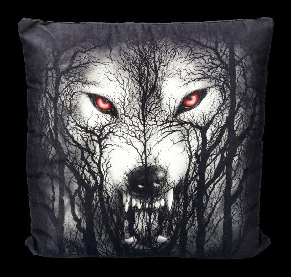 Spiral Gothic Kissen - Forest Wolf