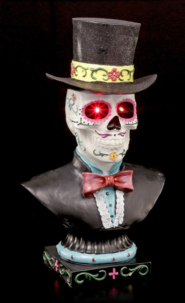 Day of the Dead Büste mit LED - Baron Samedi