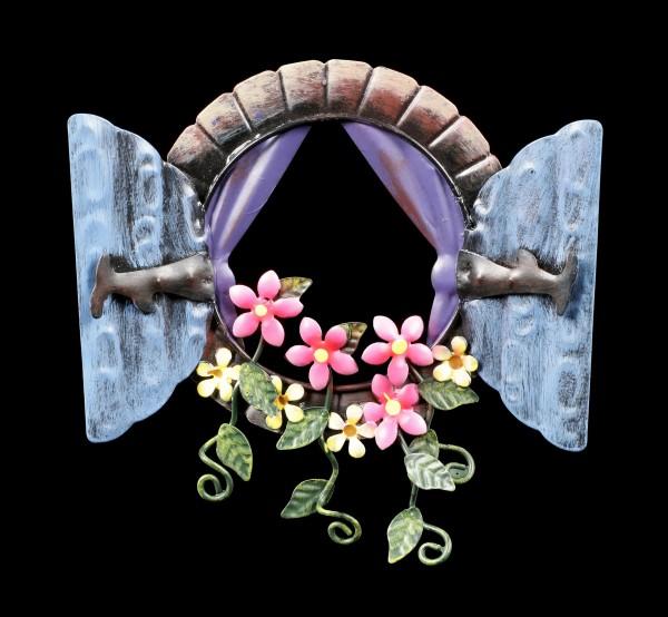 Metal Fairy Window Wall Plaque - Honeydew View