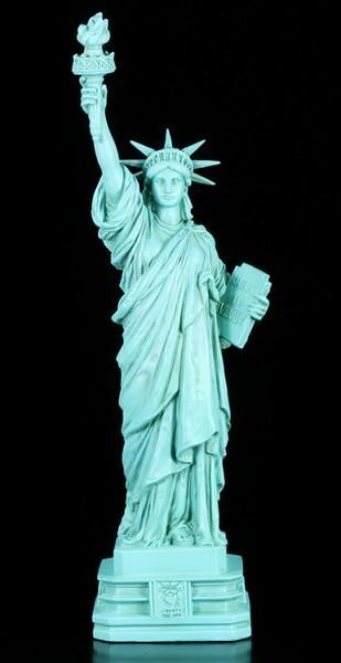 Freiheitsstatue Figur originalfarben - Statue of Liberty