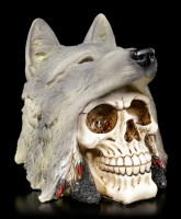 Skull - Indian with Wolfhead