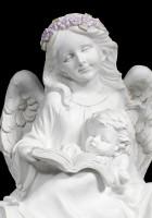 Engel Figur mit Kind und Buch