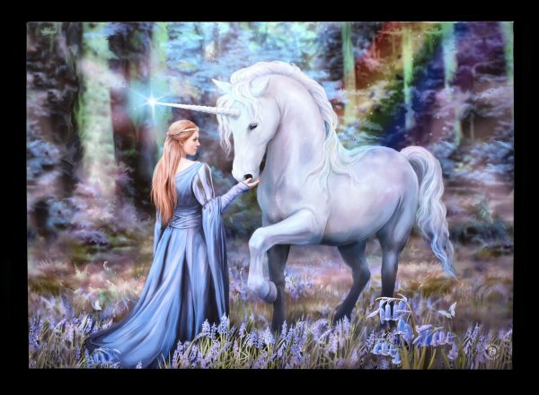 Large Canvas with Unicorn - Bluebell Woods