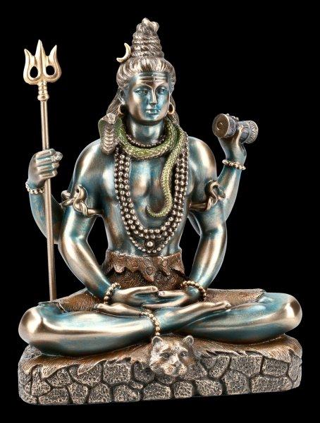 Sitting Shiva Figurine with Trident Trishula