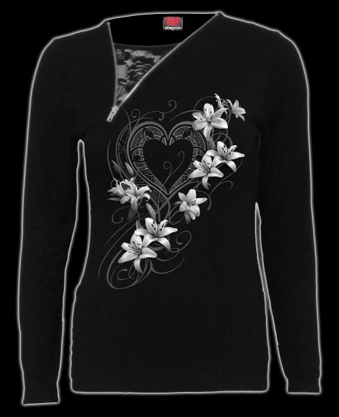 Damen 2in1 Longsleeve Gothic - Pure Of Heart