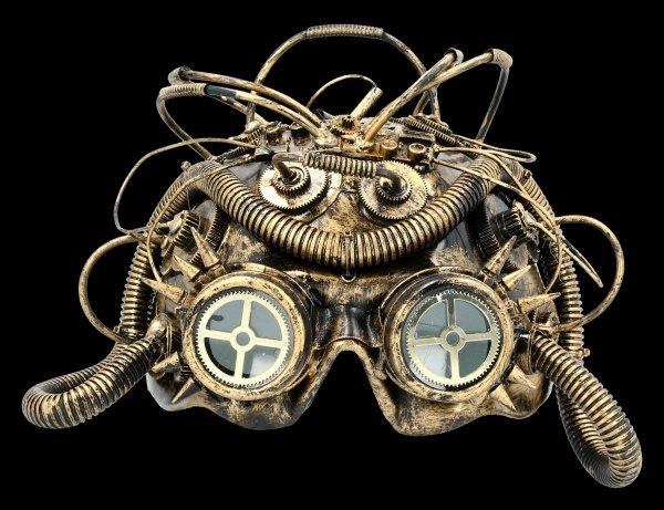 Steampunk Mask - Dark Cyber Mind