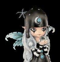 Fairy Figurine with Cat - Black Stars