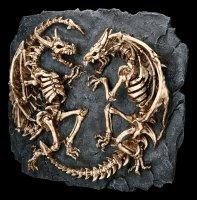 Wall Plaque - Skeleton Dragon Fight