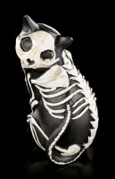 Black Skeleton Cat Figurine turns around