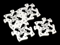 Alchemy Puzzle Untersetzer Set - Black Cats