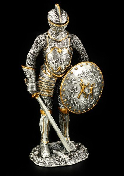 Pewter Knight with Shield