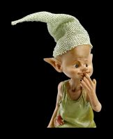 Pixie Goblin Figurine with Mouses - Time for Ice