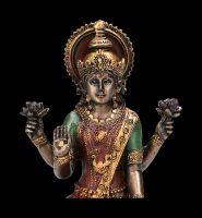 Lakshmi Figurine on Lotus Flower small