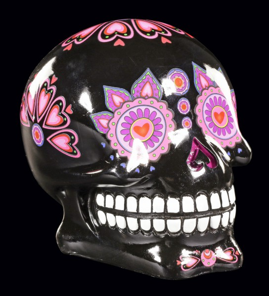 Spardose - Mexikanischer Day of the Dead Totenkopf - Black Candy